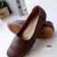 รองเท้าคัทชูส้นแบน สไตล์Loafer (สีน้ำตาล ) thumbnail 1