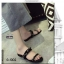 รองเท้าแตะผู้หญิงสีดำ เปิดส้น สายคาดแบบโซ่ (สีดำ ) thumbnail 2
