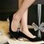 รองเท้าคัทชูส้นกลม หัวแหลม ทรงสุภาพ (สีดำ ) thumbnail 5