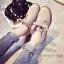 รองเท้าคัทชูหนังกลับ แนววินเทจ (สีกากี ) thumbnail 3