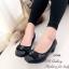รองเท้าคัทชู ส้นสูง หัวตัด บุนวม (สีดำ ) thumbnail 3