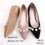 รองเท้าคัทชูส้นแบนหัวแหลมสีกากี แต่งอะไหล่ไข่ (สีกากี ) thumbnail 3