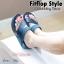 รองเท้าส้นเตารีด แบบสวมนิ้วโป้ง สไตล์fitflop (สีน้ำเงิน ) thumbnail 3