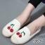 รองเท้าผ้าใบผู้หญิง ขอบเชือกปอ สไตล์โบฮีเมี่ยน (สีครีม ) thumbnail 1