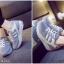 รองเท้าผ้าใบเสริมพื้น สายเชือก สวมใส่สบาย (สีเทา ) thumbnail 2