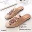 รองเท้าส้นแบนสีครีม ทรงสลิปเปอร์ Style Gucci (สีครีม ) thumbnail 2