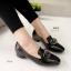 รองเท้าคัทชู หนังแก้ว สไตล์MIUMIU (สีดำ ) thumbnail 3