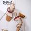รองเท้าส้นตันรัดส้นสีแทน ทรง Maxi สายคาดยางยืด (สีแทน ) thumbnail 2