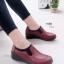 รองเท้าคัทชูเพื่อสุขภาพ สไตล์Oxford ขอบผ้ายืด (สีแดง ) thumbnail 2