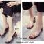 รองเท้าส้นตันเปิดส้นสีดำ สไตล์ลำลอง พียูใสไม่บาดเท้า (สีดำ ) thumbnail 2