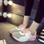 รองเท้าผ้าใบเสริมส้น ทรีโทน (สีชมพู ) thumbnail 2