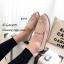 รองเท้าคัทชูสีชมพู สไตล์วินเทจ นังนิ่มดีเทลฉลุลาย (สีชมพู ) thumbnail 4