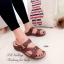 รองเท้าแตะ เพื่อสุขภาพ ปุ่มยางช่วยนวดเท้า ใส่ได้ตลอดวัน (สีน้ำตาล ) thumbnail 3