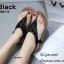 รองเท้าแตะแฟชั่นสีดำ แบบคีบ แต่งอะไหล่คริสตัลวิบวับ (สีดำ ) thumbnail 2