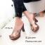 รองเท้าส้นสูงสีทอง เปิดส้น หนังนิ่ม Hermes (สีทอง ) thumbnail 3