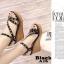 รองเท้าส้นเตารีดรัดส้นสีดำ ตอกหมุดปิรามิด สไตล์ VALENTINO (สีดำ ) thumbnail 3