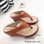 รองเท้าแตะผู้หญิงสีส้ม แบบคีบ สไตล์ลำลอง (สีส้ม ) thumbnail 3