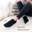 รองเท้าผ้าใบแฟชั่นสีดำ วัสดุผ้าทอนุ่มๆ (สีดำ ) thumbnail 2