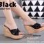 รองเท้าส้นเตารีดเปิดส้นสีดำ สายคาดไขว้ แบบสวม (สีดำ ) thumbnail 2