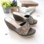 รองเท้าแตะส้นเตารีด ทรงสวม เปิดส้น (สีเทา ) thumbnail 2