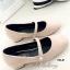 รองเท้าคัทชู ส้นเตี้ย ทรงสุภาพ (สีครีม ) thumbnail 2