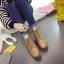 รองเท้าบูทแฟชั่นสีน้ำตาล หนังนิ่ม ทรงสวยเท่เก (สีน้ำตาล )