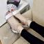 รองเท้าส้นเตี้ยรัดข้อสีขาว มีสายมุกรัดข้อปรับระดับ (สีขาว ) thumbnail 3