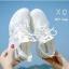 รองเท้าผ้าใบเสริมส้นสีขาว ด้านข้างมี upper ดึงกระชับ (สีขาว ) thumbnail 1