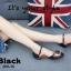 รองเท้าส้นเตี้ยสีดำ เว้าข้าง แต่งสายเข็มขัด (สีดำ ) thumbnail 5