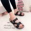รองเท้าแตะ เพื่อสุขภาพ ปุ่มยางช่วยนวดเท้า ใส่ได้ตลอดวัน (สีดำ ) thumbnail 2