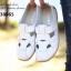 รองเท้าคัทชู สไตล์สุภาพ หนังนิ่ม (สีขาว ) thumbnail 3