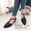 รองเท้าส้นสูง หัวแหลม ปิดส้น รัดข้อเท้า (สีดำ ) thumbnail 3