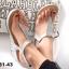 รองเท้าลำลองรัดส้น แบบคีบ (สีเงิน ) thumbnail 2