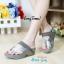 รองเท้าส้นเตารีด แบบสวมนิ้วโป้ง สไตล์fitflop (สีเทา ) thumbnail 5