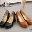 รองเท้าคัทชูส้นสูง หัวกลม ทรงสุภาพ (สีดำ ) thumbnail 6