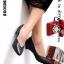 รองเท้าคัทชู สไตล์ZARA หน้าV ใส่ได้หลายโอกาส (สีดำ )