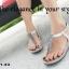 รองเท้าลำลองรัดส้น แบบคีบ (สีเงิน ) thumbnail 5
