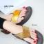 รองเท้าแตะเพื่อสุขภาพ หูหนีบ เปิดส้น แต่งคริสตัล (สีน้ำน้ำตาล ) thumbnail 1