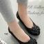 รองเท้าคัทชู หัวกลม แต่งคริสตัล หนังเงาสลับด้าน (สีดำ ) thumbnail 1