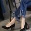 รองเท้าคัทชูส้นสูง หัวแหลม ส้นไม้ (สีดำ ) thumbnail 1