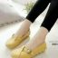รองเท้าคัทชู สไตล์Loafer หนังนิ้ม สไตล์สุขภาพ (สีเหลือง )