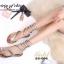 รองเท้าแตะพันข้อสีเงิน ลายงูประดับเพชร สไตล์ gladiater (ทอง ) thumbnail 5