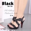 รองเท้าส้นสูง รัดส้น สายคาดไขว้ (สีดำ ) thumbnail 3