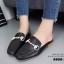 รองเท้าส้นแบนเปิดส้นสีดำ สไตล์แบรนด์ GUCCI (สีดำ ) thumbnail 3