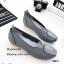 รองเท้าส้นเตี้ย เพื่อสุขภาพ หนังนิ่ม สไตล์วินเทจ (สีเทา ) thumbnail 4