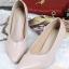 รองเท้าคัทชู ส้นสูง หัวแหลม ซับในกำมะหยี่นิ่ม (สีชมพู ) thumbnail 1