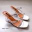 รองเท้าส้นสูงสีเงิน เปิดส้น สไตล์ MAXI (สีเงิน ) thumbnail 2