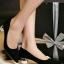 รองเท้าคัทชูส้นกลม หัวแหลม ทรงสุภาพ (สีดำ ) thumbnail 2