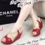 รองเท้าส้นเตารีด รัดส้น สายคาดไขว้ (สีแดง ) thumbnail 2