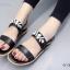 รองเท้าแตะรัดส้นสีดำ สไตล์แบรนด์ MIU MIU (สีดำ ) thumbnail 5